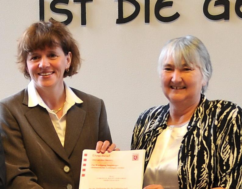 Landesehrenbrief für Cornelia Wicht-Gerhardt