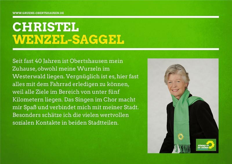 Christel Wenzel-Saggel Stv. Fraktionsvorsitzende und Mitglied im Umwelt-, Verkehr- und Bauausschuss (UVB)