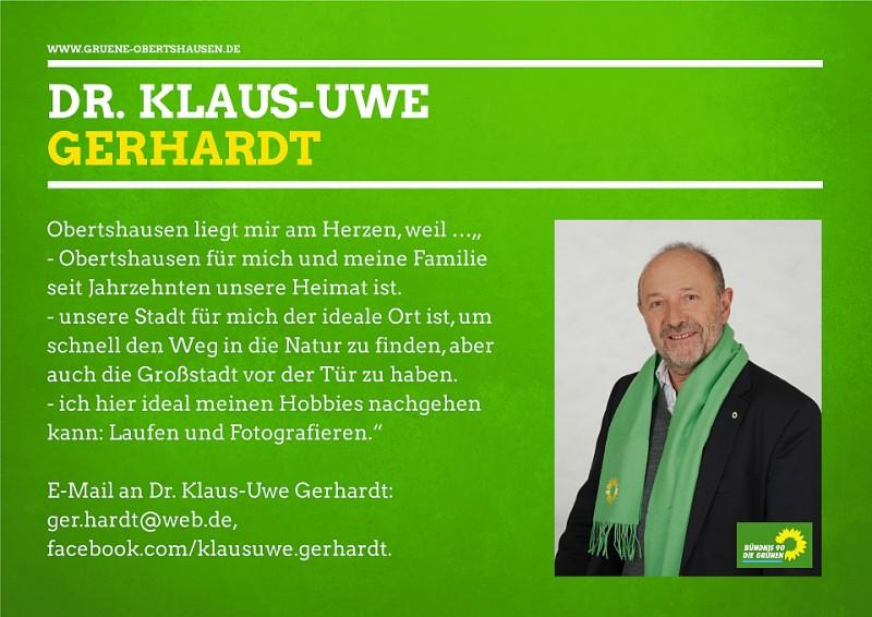 Klaus Uwe Gerhardt Fraktionsvorsitzender und Mitglied im Haupt-, Finanz- und Wirtschaftsausschuss (HFW)