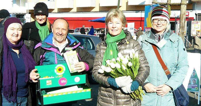 Wahlstand Obertshasen 27.02.2016