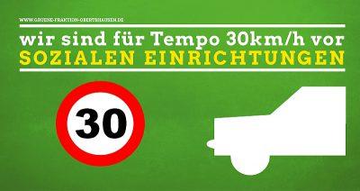 Grünen Fraktion Obertshausen für Tempo 30km/h vor sozialen Einrichtungen