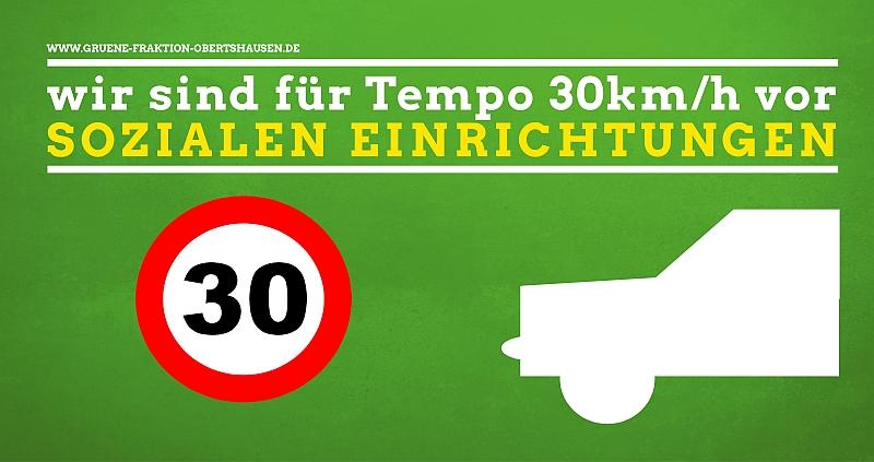 PM: Grüne wollen 30km/h Abschnitte in der Friedrich-Ebert- und Seligenstädter Straße