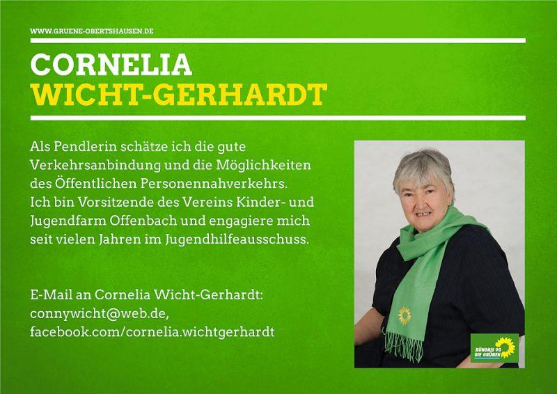 Cornelia Wicht-Gerhardt Stadträtin im Magistrat