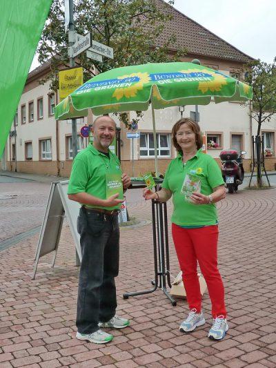Grüne Wahlstände 2013