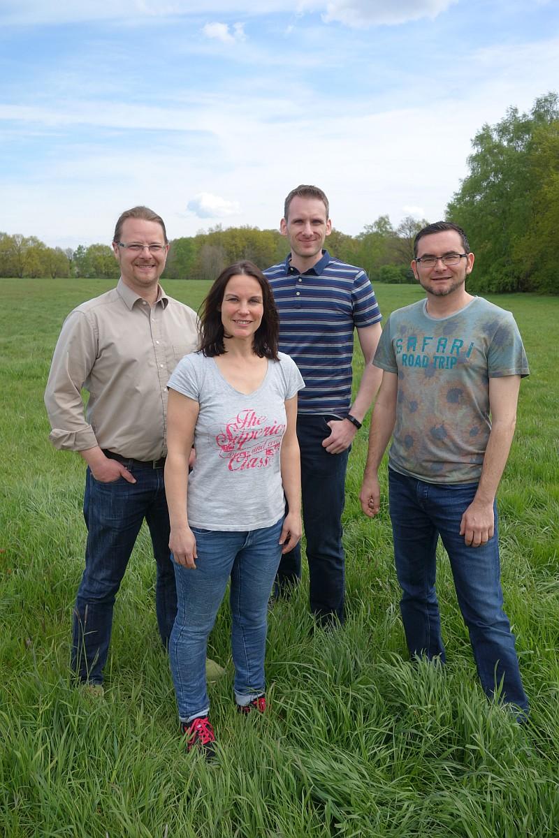 Neuer Vorstand seit April 2016: (vl.) Norman Dosch, Katy Walter, Robert Bedner, Tobias Koch