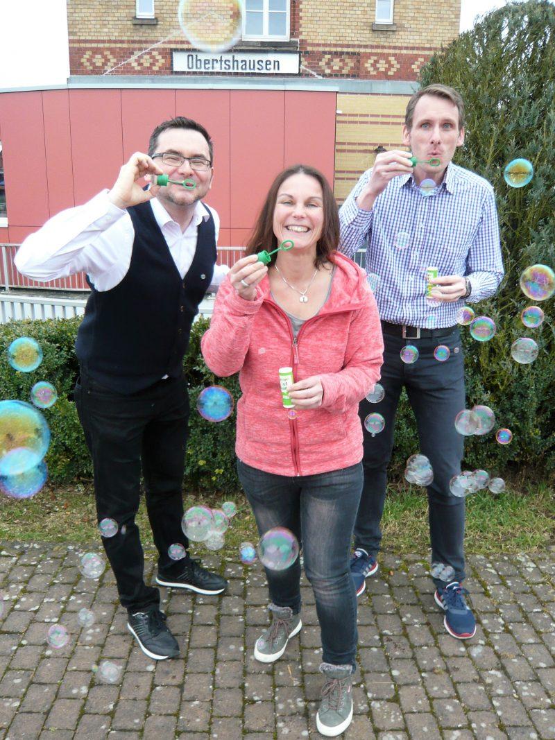 GRÜNER Vorstand in Obertshausen: Tobias Koch, Katy Walther, Robert Bedner