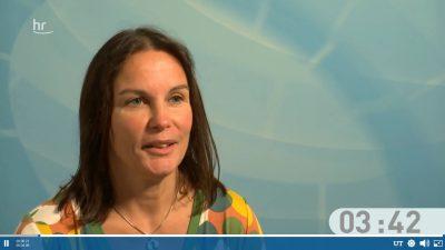 Katy Walther beim #hrWAHL - Der Kandidatencheck