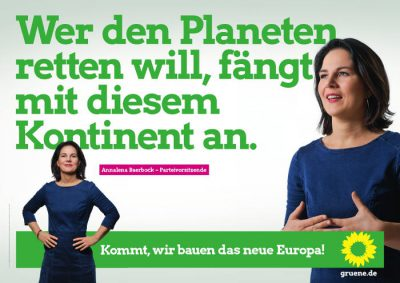 Europawahl 2019: Plakat Annalena Baerbock