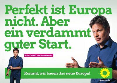 Europawahl 2019: Plakat mit Robert Habeck