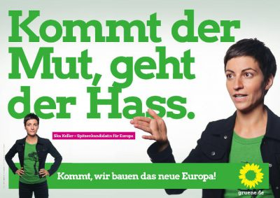 Europawahl 2019: Plakat mit Ska Keller