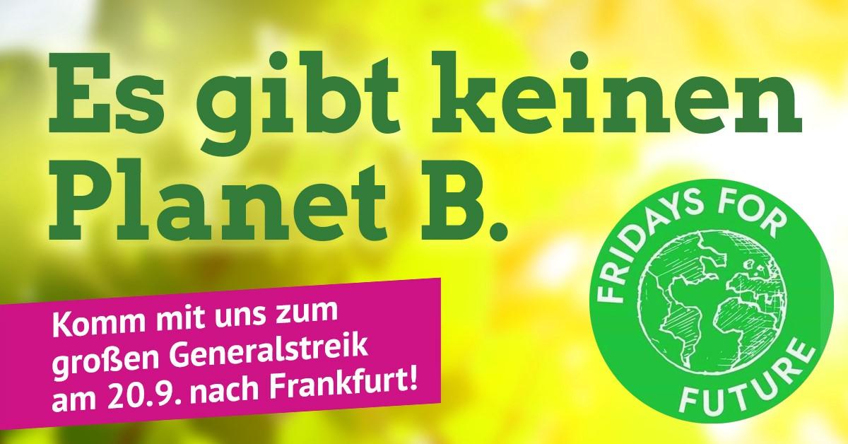 Grüne und Christen aus Obertshausen gemeinsam beim Generalstreik fürs Klima in Frankfurt
