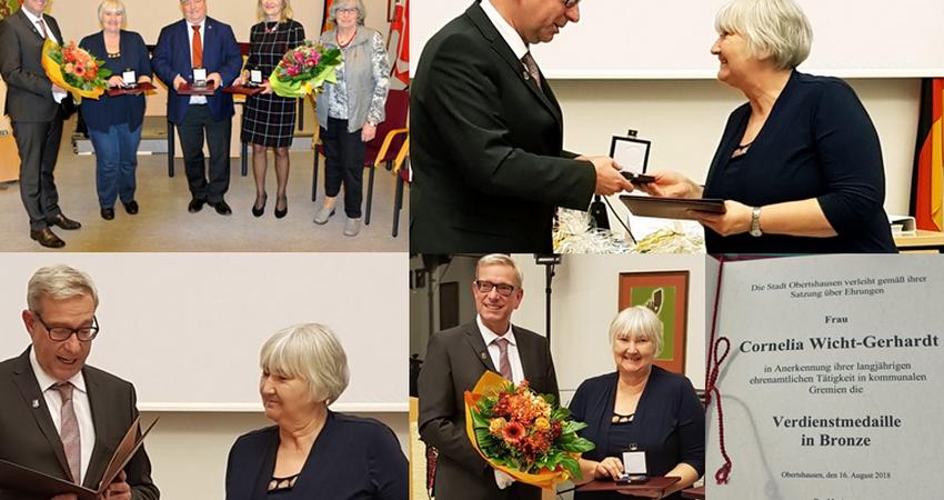 Verdienstmedaille an Cornelia Wicht-Gerhardt