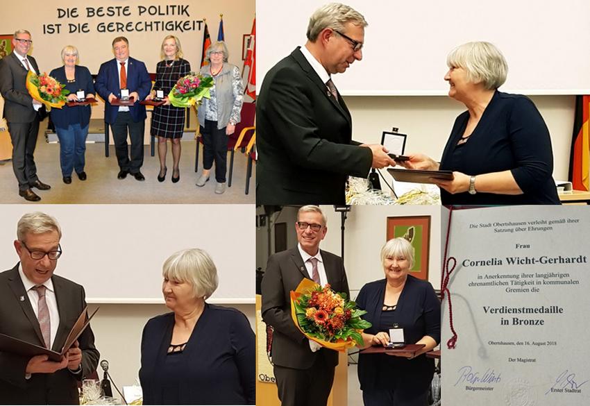 Cornelia Wicht-Gerhardt wird geehrt