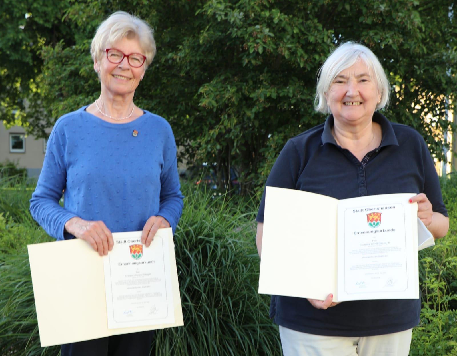 Conny und Christel zu Stadträtinnen ernannt
