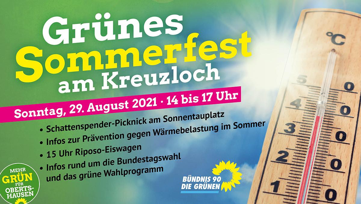 """Grünes Sommerfest am Kreuzloch: """"Schattenspender-Picknick"""" gegen die Auswirkungen des Klimawandels"""