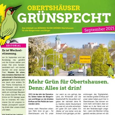 Neuer Grünspecht zur Bundestagswahl